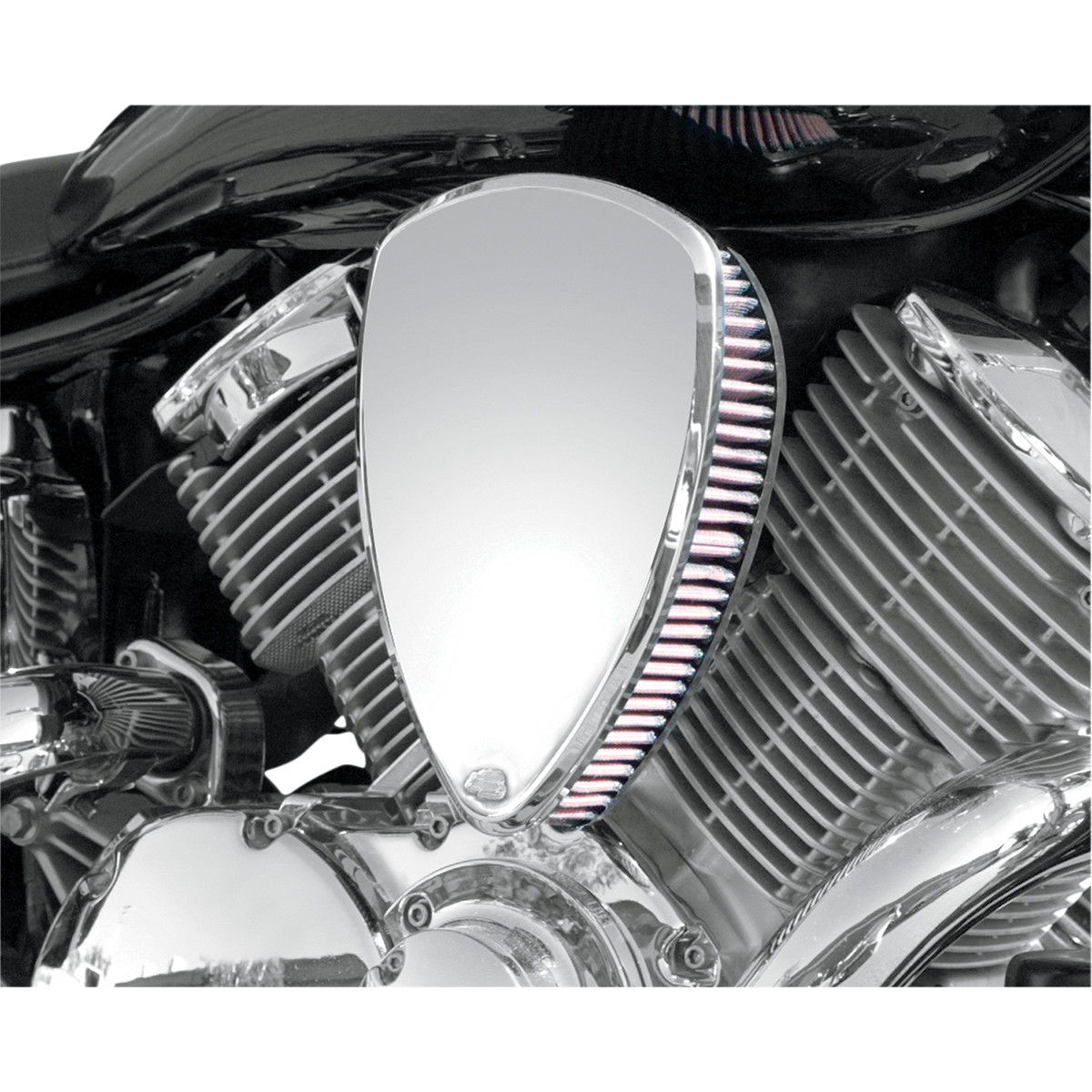 AIR CLEANER KIT BIG AIR SMOOTH CHROME